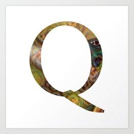 """Initital letter """"Q"""" Art Print"""