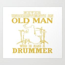 Old Man - A Drummer Art Print