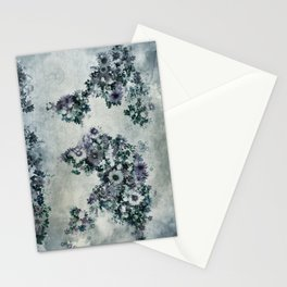 floral world map 2 Stationery Cards