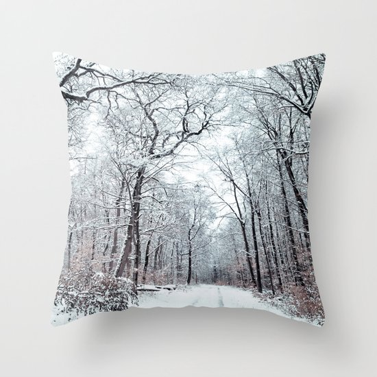 winter canopy Throw Pillow