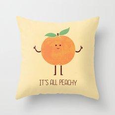 All Peachy Throw Pillow