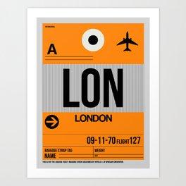 LON London Luggage Tag 1 Art Print
