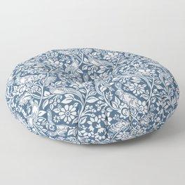William Morris Navy Bunny & Pheasant Pattern Floor Pillow