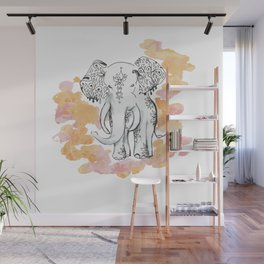 Elephant Travels- Frolics to family Wall Mural