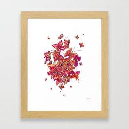 Butterfly Cluster Framed Art Print