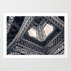Eiffel Steel Art Print
