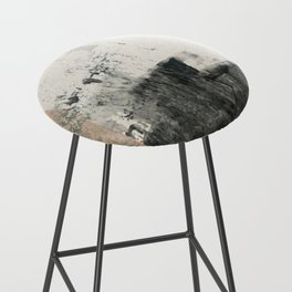 Peace and Quiet [1]: a pretty, minimal abstract piece in gray and peach by Alyssa Hamilton Art Bar Stool
