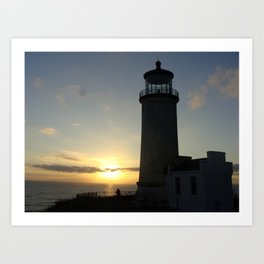 Lighthouse photo, Cape Disappointment Art Print