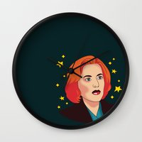 mulder Wall Clocks featuring Mulder No by fin apollo
