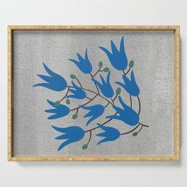 Blue Bell Flowers – Scandinavian Folk Art Serving Tray