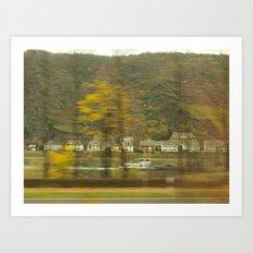 Rhein River Art Print