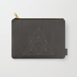 Geometric Dark Carry-All Pouch