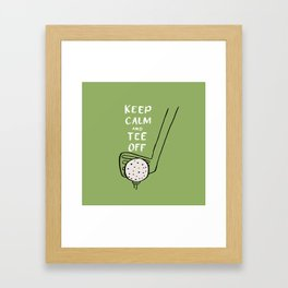 Tee Off Framed Art Print