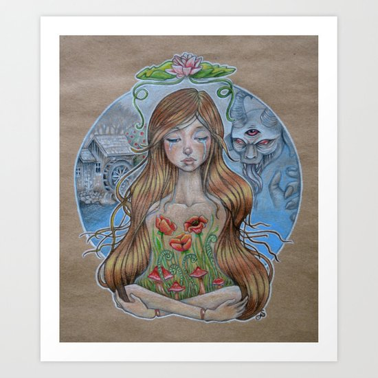 Girl Without Hands Art Print