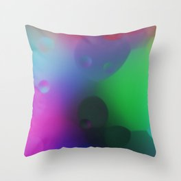 misc fantasy color drops C Throw Pillow