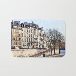 Walking by the Seine in Paris  Bath Mat