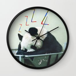 Sleepy Panda Wall Clock