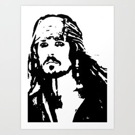 pirates caribbean sea Art Print