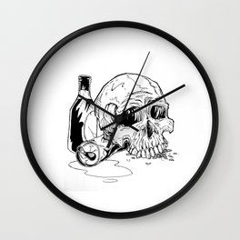 Skull Abuse  Wall Clock