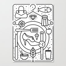 Food and Fashion Canvas Print