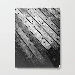 Wooden Lines Metal Print