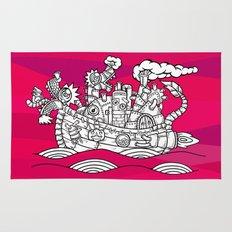 dragon ship Rug