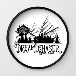 Dream Chaser, Mountain Adventure Wall Clock