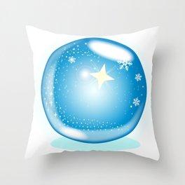 Christmas Star Globe Throw Pillow