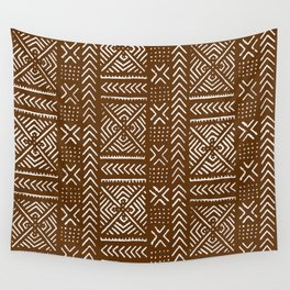 Line Mud Cloth // Brown Wall Tapestry