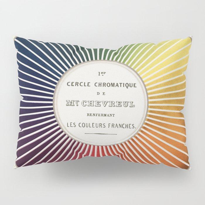 Chevreul Cercle Chromatique, 1861 Remake, vintage wash Pillow Sham
