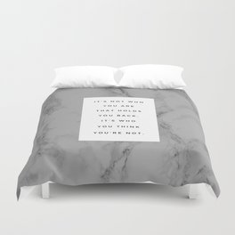 MARBLE QUOTE Duvet Cover