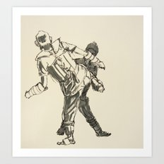 Tae Kwon Do Sparring Art Print