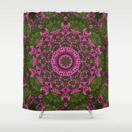 Purple Flower Field Mandala Shower Curtain