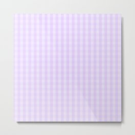 Chalky Pale Lilac Pastel Gingham Check Plaid Metal Print