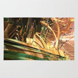 Horse Feathers (3D Fractal Digital Art) Rug
