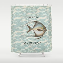 The {grumpy} FISH Shower Curtain
