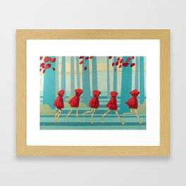 Five Little Riding Hoods I/III Framed Art Print