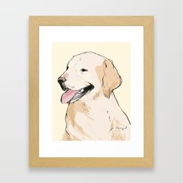Yellow Lab Framed Art Print
