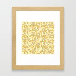 Doodles Waves Yellow Framed Art Print