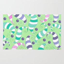 Crazy Twisters Pattern Print Rug