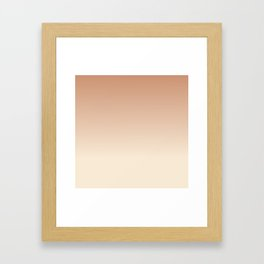 Antique White and Antique Brass Gradient Colors Framed Art Print