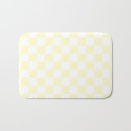 Checker (Cream/White) Bath Mat
