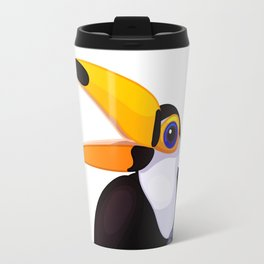 Exotic toucan. Vector graphic character Travel Mug
