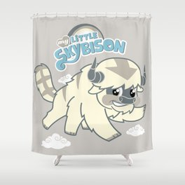 My Little Sky Bison Shower Curtain