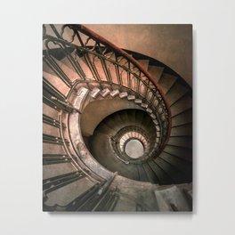 Spiral brown staircase Metal Print