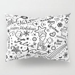 Merry Christmas Multiple languages Pillow Sham