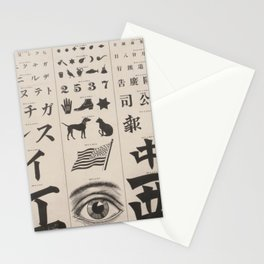 Antique Eye Chart Stationery Cards