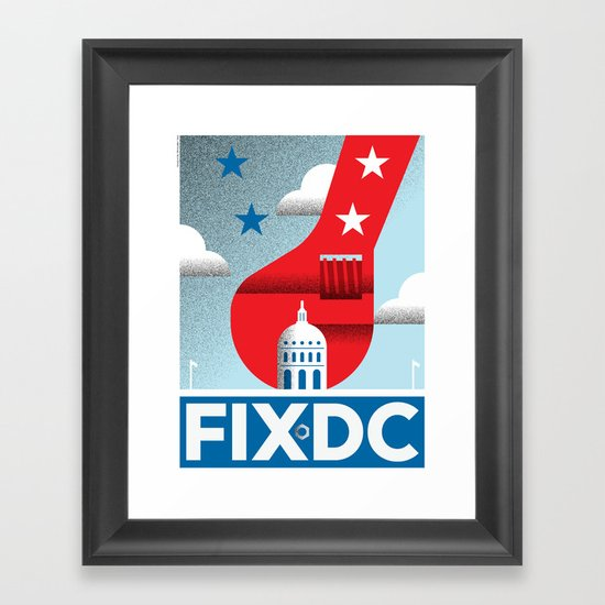 FIX DC Framed Art Print