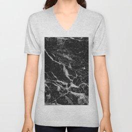Back & Gray Marble texture Unisex V-Neck