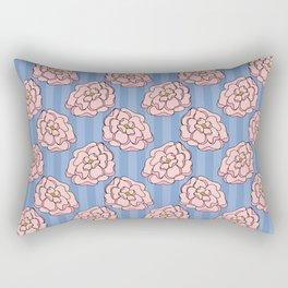 Pink Doodle Florals on a Purple Background Rectangular Pillow